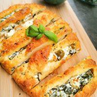 Gresk brød med spinat og fetaost