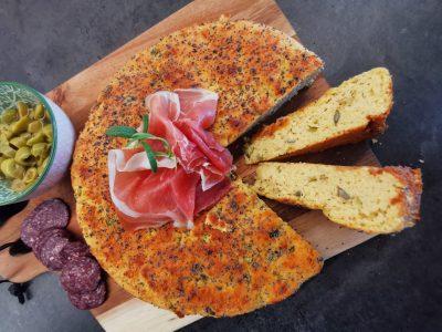 Lavkarbo olivenbrød