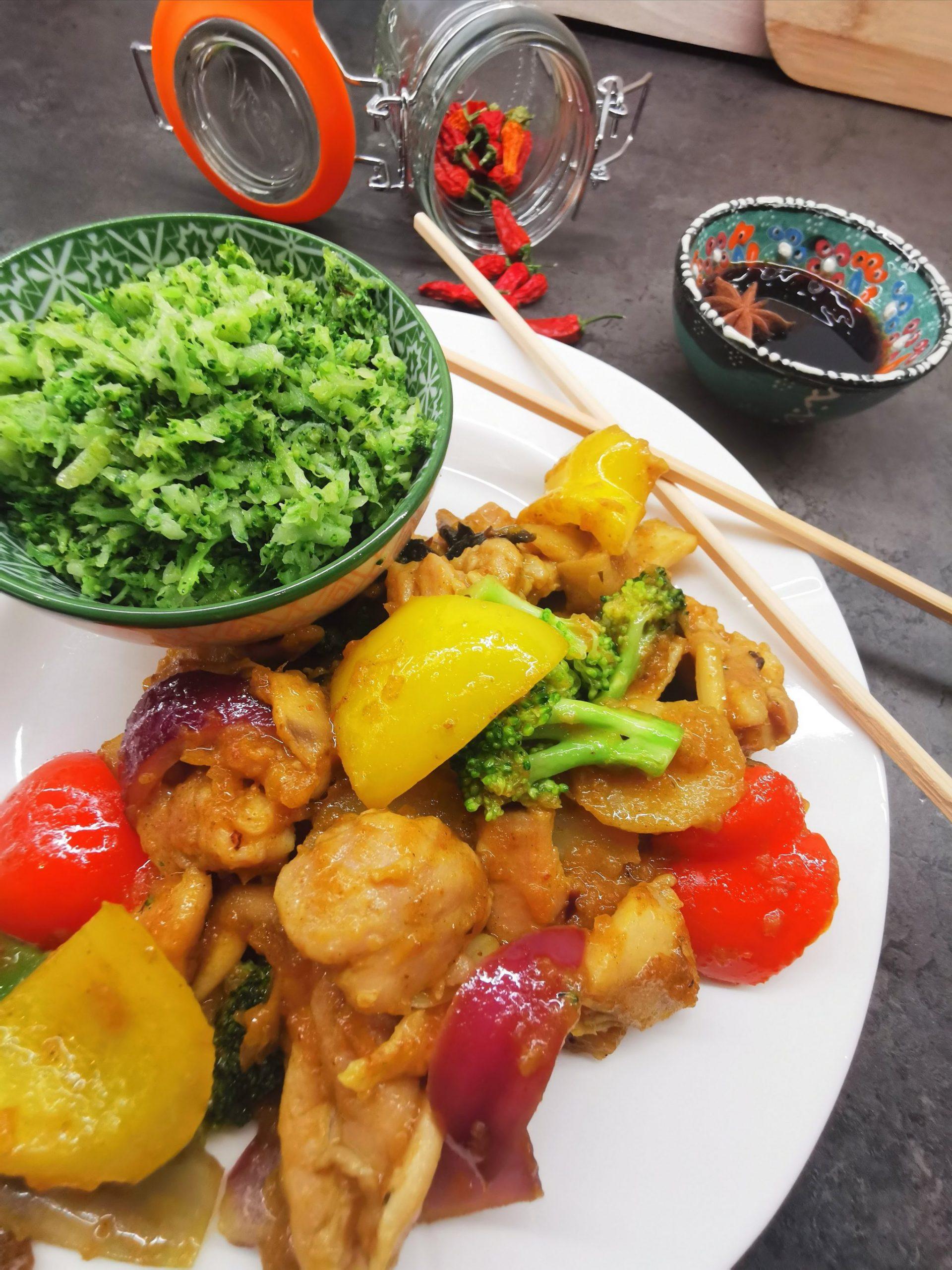 Lavkarbo kinesisk kylling i karri