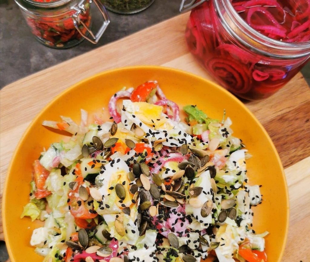 Lavkarbo avocado salat