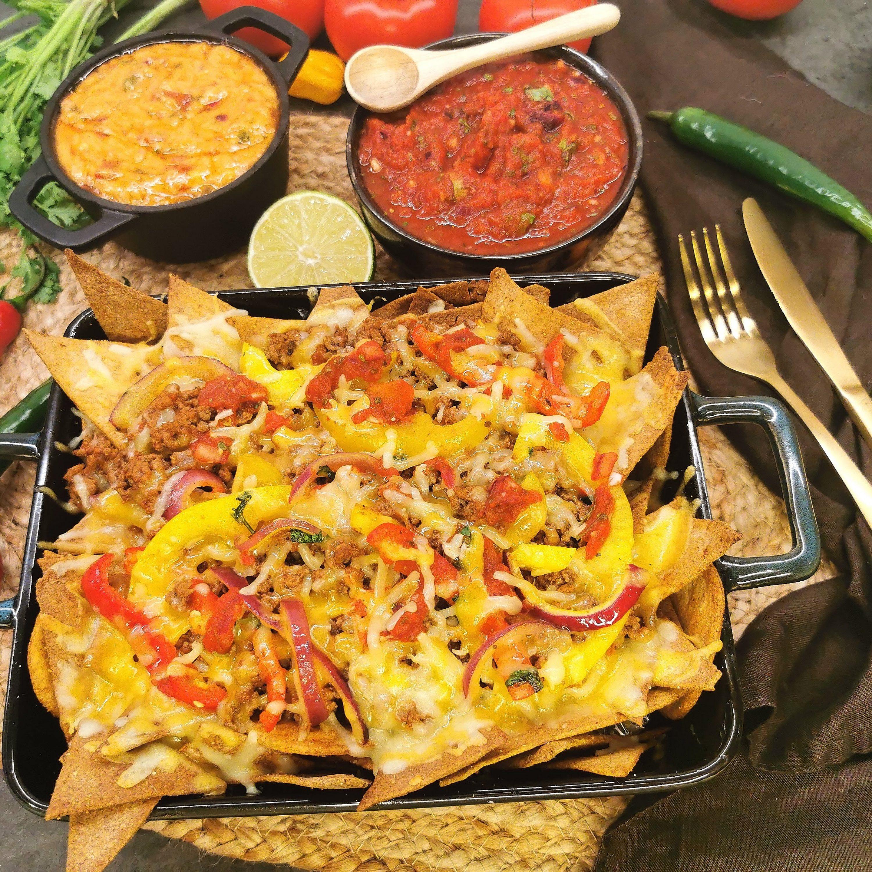 Lavkarbo nachos