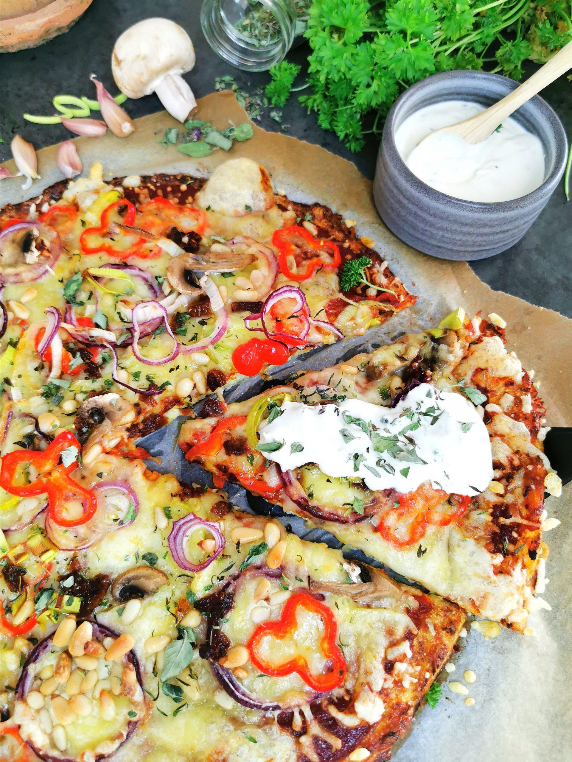Lavkarbo blomkålpizza