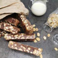 Lavkarbo sjokoladekaramell med peanøtter