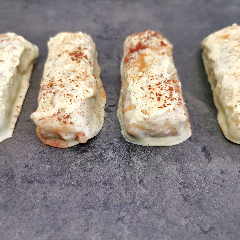 Lavkarbo proteinbar - karamell, pekannøtt og hvit sjokolade