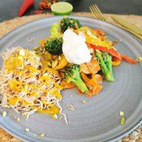 Lavkarbo vegetar wok