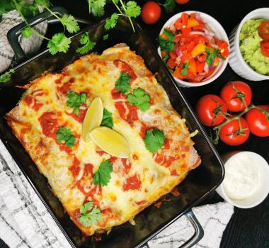 Lavkarbo enchiladas med kylling