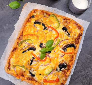 Lavkarbo hjemmelaget langpanne pizza
