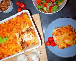 Lavkarbo lasagne med hjemmelaget lavkarbo pasta