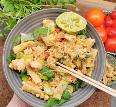 Lavkarbo pad thai kylling