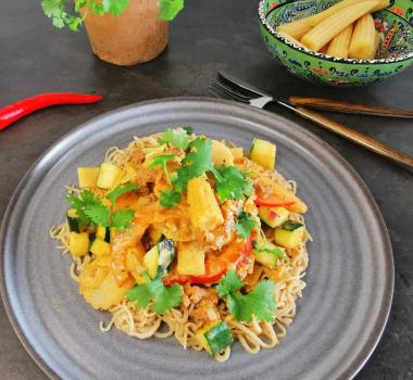 Lavkarbo thailandinspirert wok med lammekjøtt