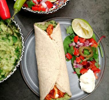 Lavkarbo taco, tortillas og tilbehør