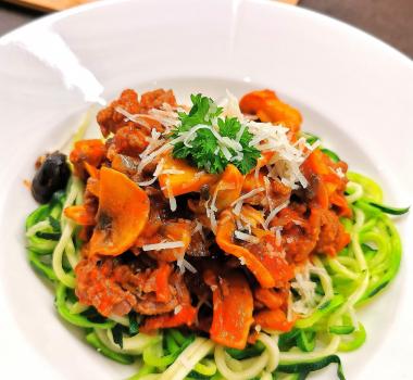 Squash spaghetti med kjøttsaus